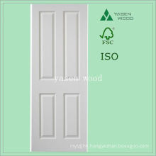 Contemporary Interior MDF White Panel Wooden Door